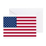 American Flag Greeting Cards (Pk of 20)
