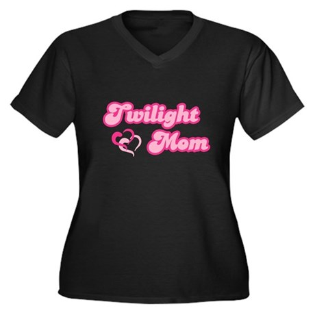 Twilight Mom Women's Plus Size V-Neck Dark T-Shirt
