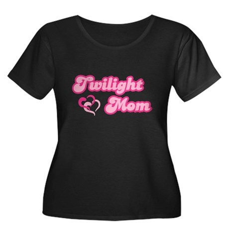 Twilight Mom Women's Plus Size Scoop Neck Dark T-S