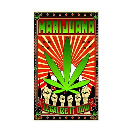 MARIJUANA PROPAGANDA ART Sticker (Rectangle)