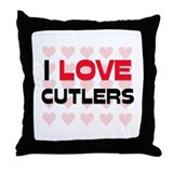 I LOVE CUTLERS Throw Pillow