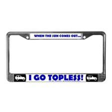 Topless License Plate Frame