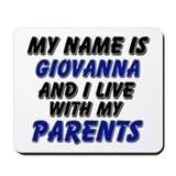 my name is giovanna and I live with my parents Mou