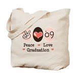 Peace Love 09 Graduation Tote Bag