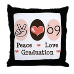 Peace Love 09 Graduation Throw Pillow