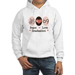 Peace Love 09 Graduation Hooded Sweatshirt