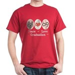 Peace Love 09 Graduation Dark T-Shirt