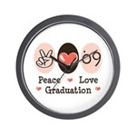Peace Love 09 Graduation Wall Clock