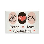 Peace Love 09 Graduation Rectangle Magnet (100 pac