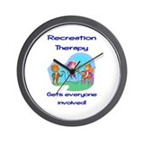 Recreation Therapy Wall Clock
