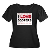 I LOVE COOPERS Women's Plus Size Scoop Neck Dark T