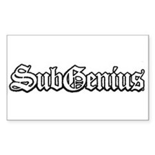 SubGenius Logo Rectangle Decal