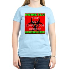 Swine Flu Biohazard Alert Women's Light T-Shirt