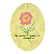 GARDENS GROWING Oval Ornament