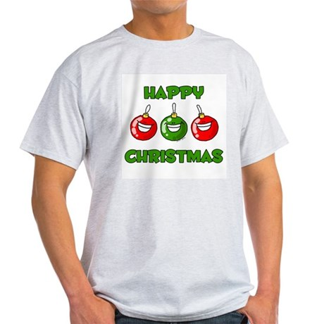 Happy Merry Christmas Ash Grey T-Shirt