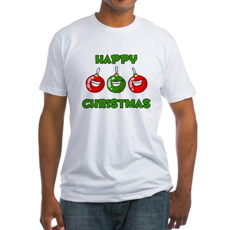 Happy Merry Christmas Fitted T-Shirt
