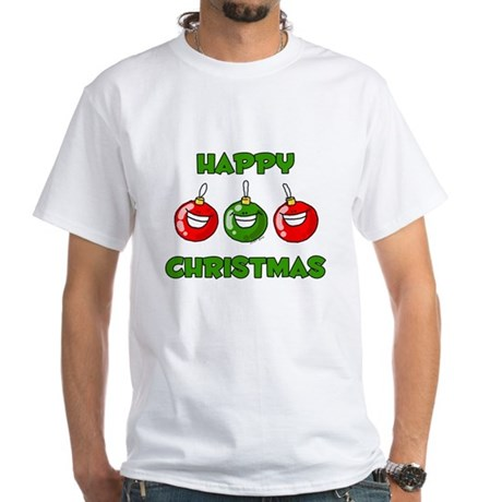 Happy Merry Christmas White T-Shirt