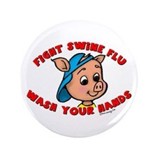 "Swine Flu 3.5"" Button"