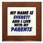 my name is everett and I live with my parents Fram