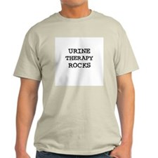 URINE THERAPY  ROCKS Ash Grey T-Shirt