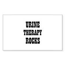 URINE THERAPY ROCKS Rectangle Decal