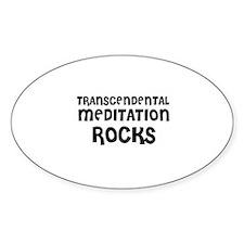 TRANSCENDENTAL MEDITATION RO Oval Decal