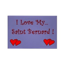 I Love My St. Bernard Rectangle Magnet (100 pack)