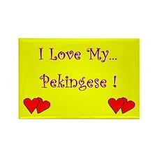 I Love my Pekingese Rectangle Magnet (100 pack)