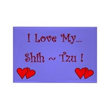I Love My Shih-Tzu Rectangle Magnet (100 pack)