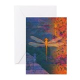 Flaming Dragonfly Greeting Cards (Pk of 10)
