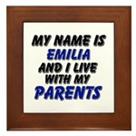 my name is emilia and I live with my parents Frame