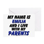 my name is emilia and I live with my parents Greet