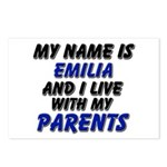 my name is emilia and I live with my parents Postc