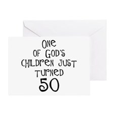 50th birthday gifts Christian Greeting Card