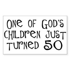 50th birthday gifts Christian Rectangle Decal