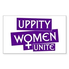 UPPITY WOMEN UNITE Rectangle Decal
