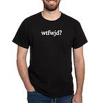 Black wtfwjd? shirt