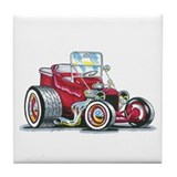 Little red T Bucket Tile Coaster