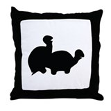 turtle sex icon Throw Pillow