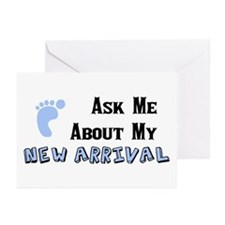 New Baby Boy Greeting Cards (Pk of 10)