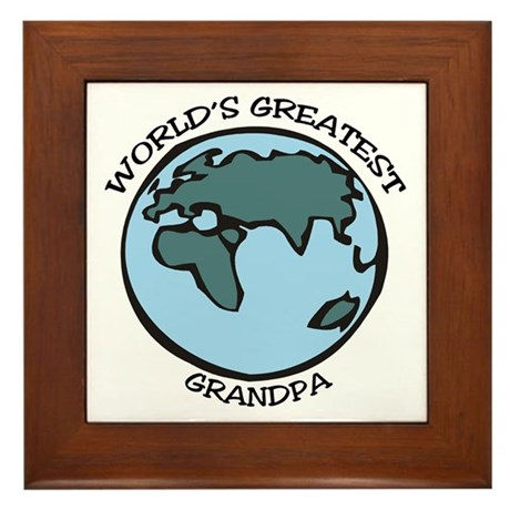Greatest Grandpa Framed Tile