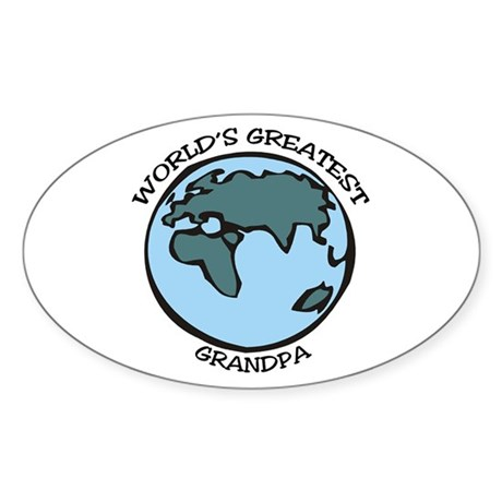 Greatest Grandpa Oval Sticker