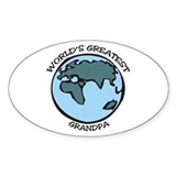 Greatest Grandpa Oval Decal