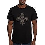 Fleur De Lid Men's Fitted T-Shirt (dark)