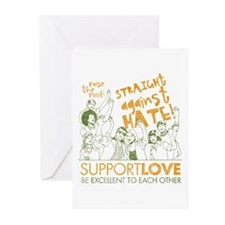 Straight Against Hate Greeting Cards (Pk of 20)