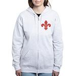 Fleur De Lid Women's Zip Hoodie