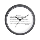 Cute Invictus Wall Clock