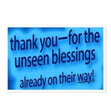 Thank You For Unseen Blessings Postcards (Package