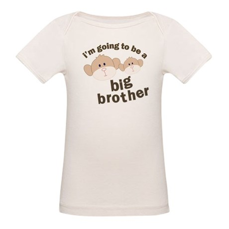 big brother to be monkey Organic Baby T-Shirt