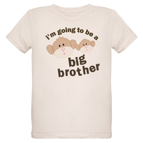 big brother to be monkey Organic Kids T-Shirt